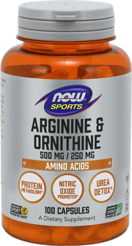 NOW Foods Arginine & Ornithine (100 caps)
