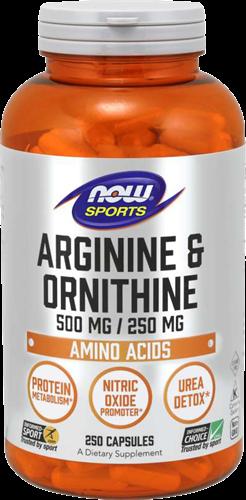 NOW Foods Arginine & Ornithine (250 caps)