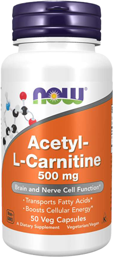NOW Foods Acetyl-L-Carnitine 500MG (50 caps)