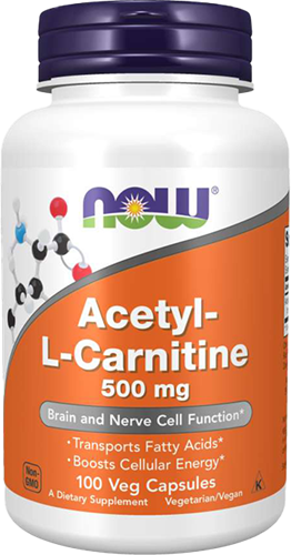 NOW Foods Acetyl-L-Carnitine 500MG (100 caps)