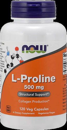 NOW Foods L-Proline 500MG (120 caps)