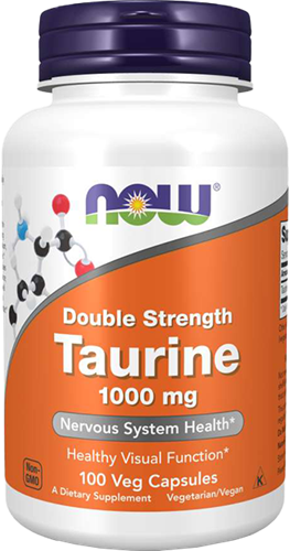 NOW Foods Taurine 1000MG Double Strength (100 caps)
