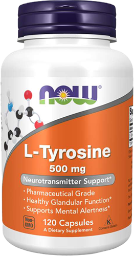 NOW Foods L-Tyrosine 500MG (120 Caps)