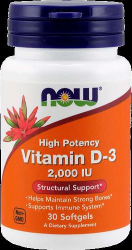 NOW Foods Vitamin D3 2000IU (30 softgels)