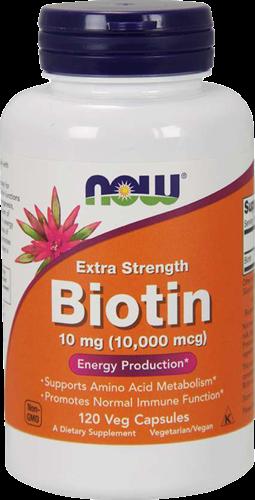 NOW Foods Biotin 10MG Extra Strength (120 caps)