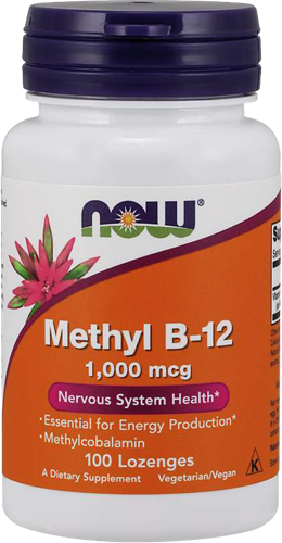 NOW Foods Methyl B12 1000MCG (100 lozenges)
