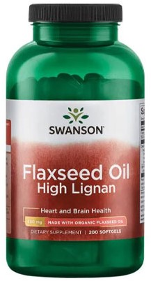 Swanson Flaxseed Oil High Lignan (200 softgels)