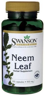 Swanson Neem Leaf 500mg (100 caps)