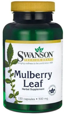 Swanson Mulberry Leaf 500mg (120 caps)