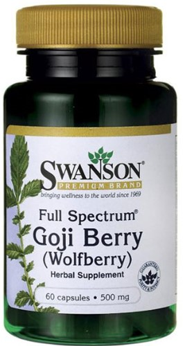 Swanson Goji Berry 500mg (60 caps)