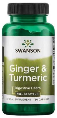 Swanson Ginger & Tumeric (60 caps)