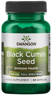 Swanson Black Cumin Seed 525mg (60 caps)