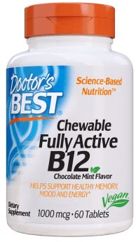 Doctor's BEST Chewable Fully Active B12 1000mcg (60 tabs)