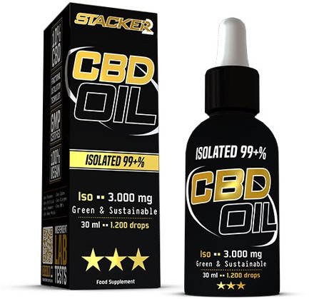 Stacker2 CBD Oil ISO 3000mg RAW (30 ml)