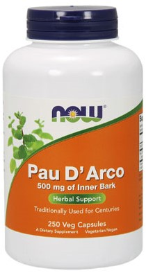 NOW Foods Pau D'Arco 500MG 250 (250 Caps)