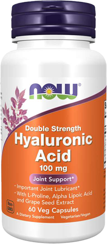 NOW Foods Hyaluronic Acid 100MG Double Strength  (60 caps)