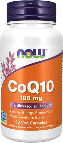 NOW Foods CoQ10 100MG with Hawthorn Berry (90 caps)
