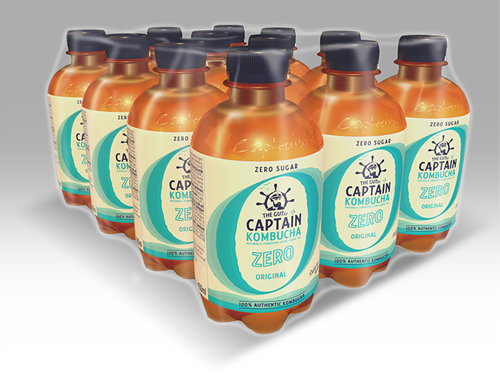 Captain Kombucha Zero Original (12 x 400 ml)