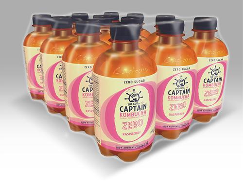 Captain Kombucha Zero Raspberry (12 x 400 ml)