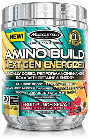 Amino Build Next Gen Energized Fruit Punch Splash (280 gr)