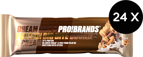 Big Bite Protein Bar Cookies & Cream (24 x 45 gr)