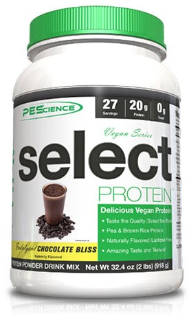 PES Select Vegan Protein Chocolate Bliss (918 gr)