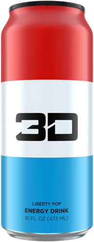 3D Energy Liberty Pop (1 x 473 ml)