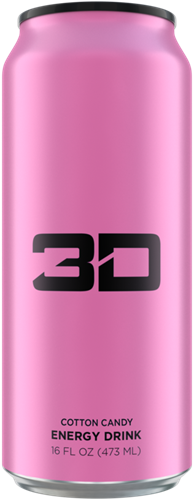 3D Energy Cotton Candy (1 x 473 ml)