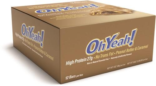 Oh Yeah! Protein Bar Peanutbutter & Caramel (12 x 85 gr)