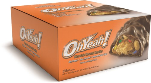 Oh Yeah! Protein Bar Chocolate Caramel Candies (12 x 85 gr)