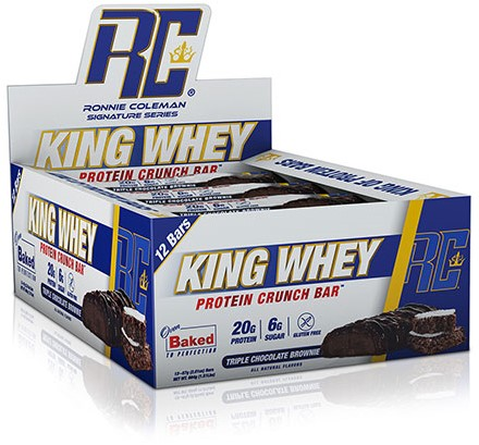 King Whey Protein Crunch Bar Tripple Chocolate Brownie (12 x 57 gr)