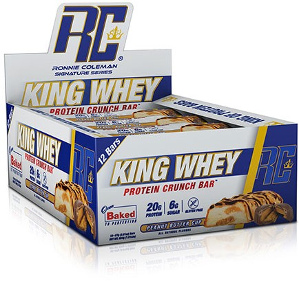 King Whey Protein Crunch Bar Peanut Butter Cup (12 x 57 gr)