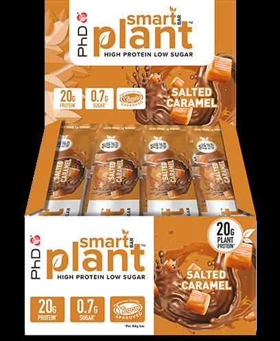 PhD Smart Bars Plant Salted Caramel (12 x 64 gr)