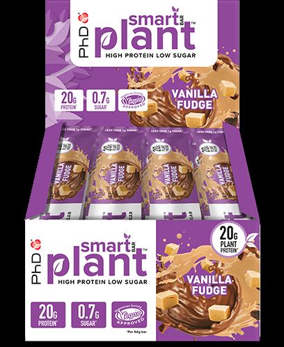 PhD Smart Bars Plant Vanilla Fudge (12 x 64 gr)