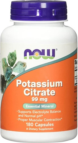 NOW Foods Potassium Citrate 99MG (180 Caps)
