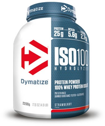 Dymatize Iso 100 Hydrolized Strawberry Blast (2200 gr)