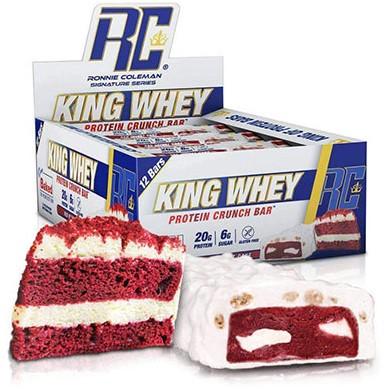 King Whey Protein Crunch Bar Red Velvet Cake (12 x 57 gr)