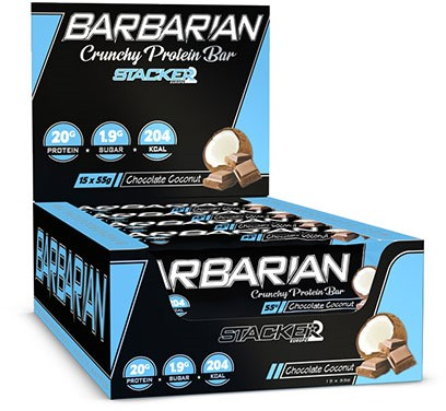 Barbarian Protein Bar Chocolate Coconut (15 x 55 gr)