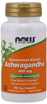 NOW Foods Ashwagandha Extract 450MG (90 Caps)