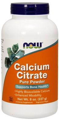 NOW Foods Calcium Citrate Pure Powder (227 gr)