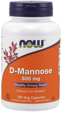 NOW Foods D-Mannose 500MG (120 Caps)
