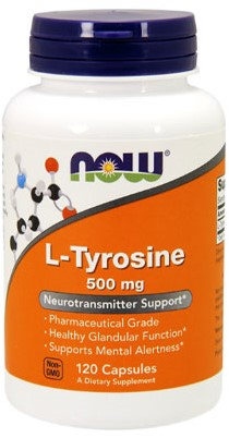 NOW Foods L-Tyrosine 500MG (120 Caps)