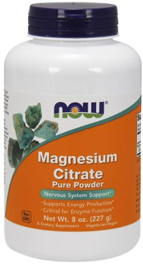 NOW Foods Magnesium Citrate Pure (227 gr)