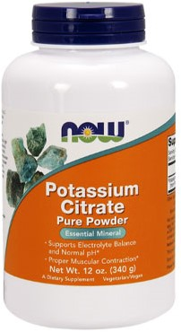 NOW Foods Potassium Citrate Pure (340 gr)