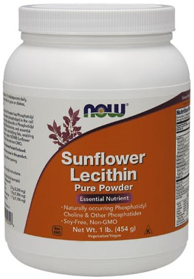 NOW Foods Sunflower Lecithin Pure (454 gr)
