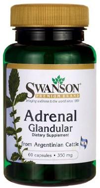 Swanson Adrenal Glandular 350MG (60 Caps)