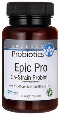 Swanson Epic Pro 25-Strain Probiotic (30 Caps)