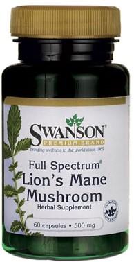 Swanson Full Spectrum Lion's Mane Mushroom 500MG (60 Caps)