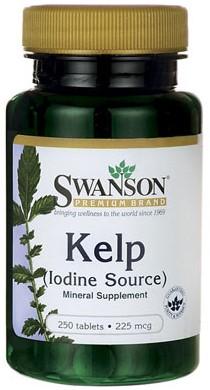 Swanson Kelp (Iodine Source) 225MCG (250 tabs)
