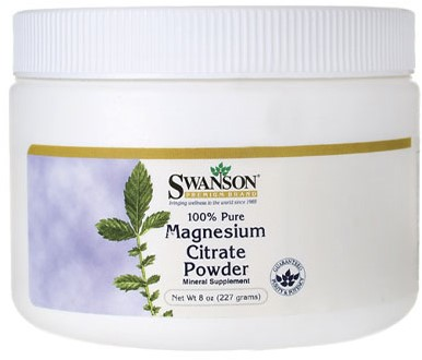 Swanson Magnesium Citrate 100% (227gr)